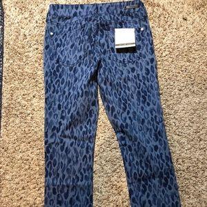 Pilcro and the Letterpress Jeans - Pilcro and Letterpress Blue Cheetah Pants Size 26